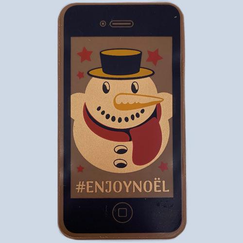 Smartphone bonhomme de neige - Pâtisserie Litzler-Vogel
